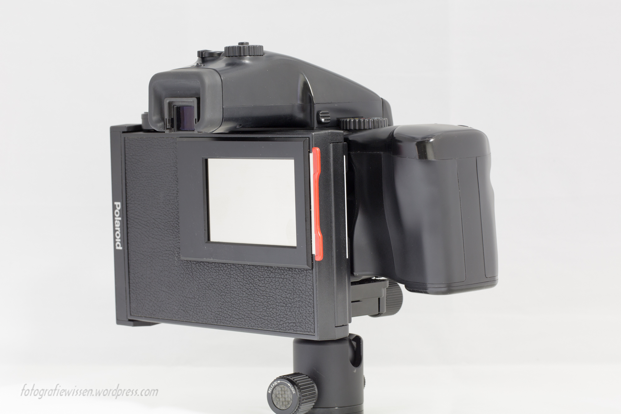Mamiya 645 PRO TL Polaroid Pack Film Holder HP401 Rückansicht