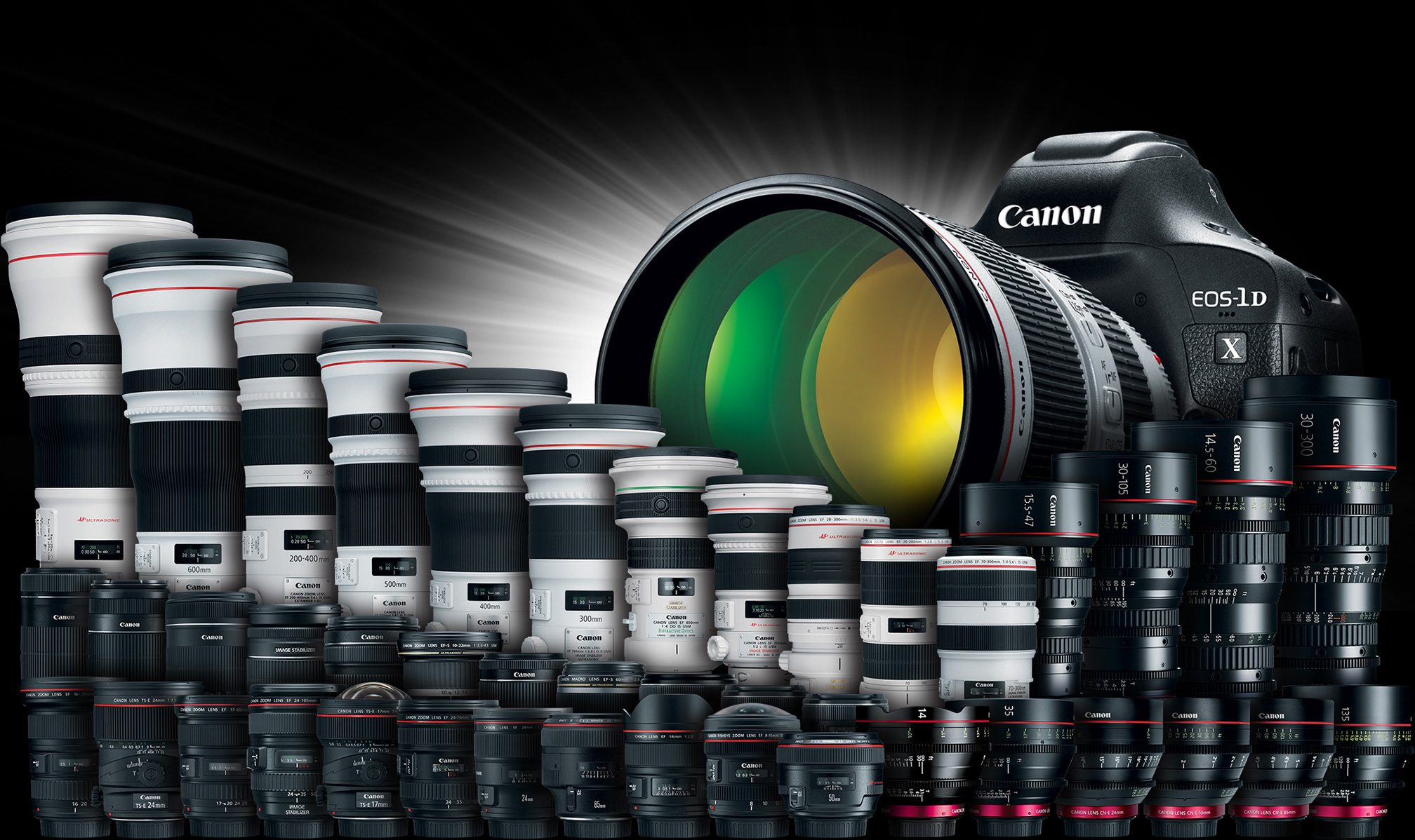 Canon 120 Million EF Lenses