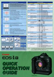 Canon EOS-1V Quick Operation Guide I