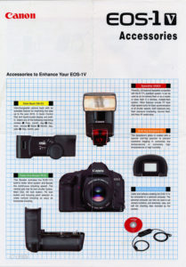Canon EOS-1V Accessories Card I