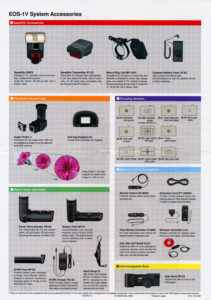 Canon EOS-1V Accessories Card IAccessories Card II